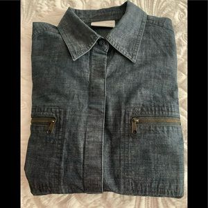 Liz Claiborne Denim Shirt NEW M